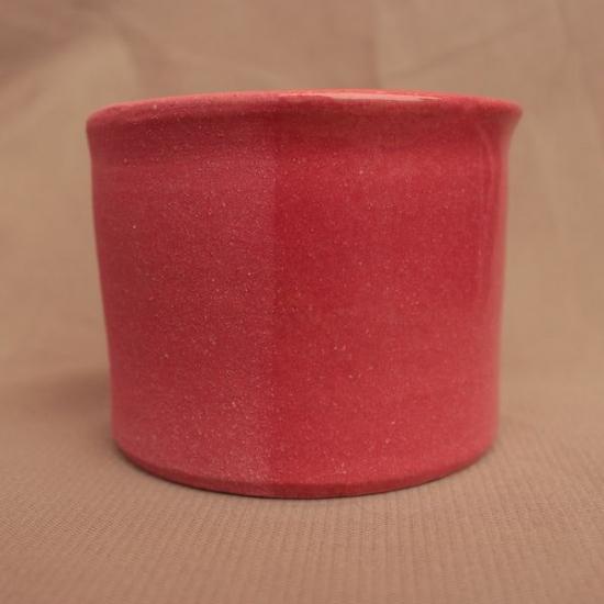 Ангоб красный №1 с бесцветной глазурью и без оной, сравнение