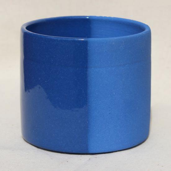 Ангоб синий с глазурью и без, сравнение