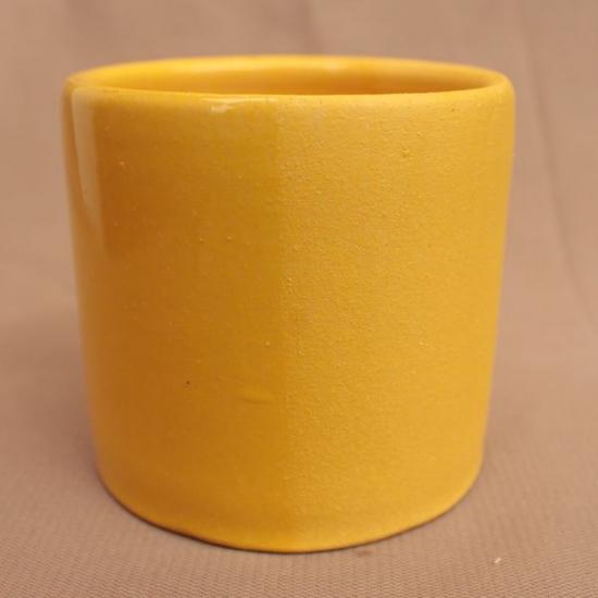 Ангоб желтый №3 с бесцветной глазурью и без оной, сравнение