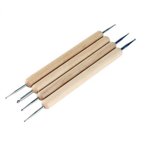 Набор инструментов для глины, 4 предмета