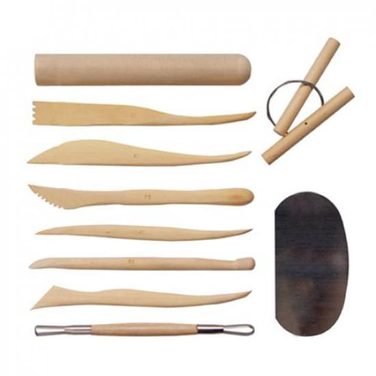 Набор из 10 инструментов для гончарного круга и лепки