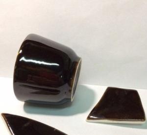 Глазурь керамическая цвета кофе
