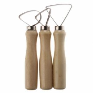 Петли для глины с деревянной ручкой